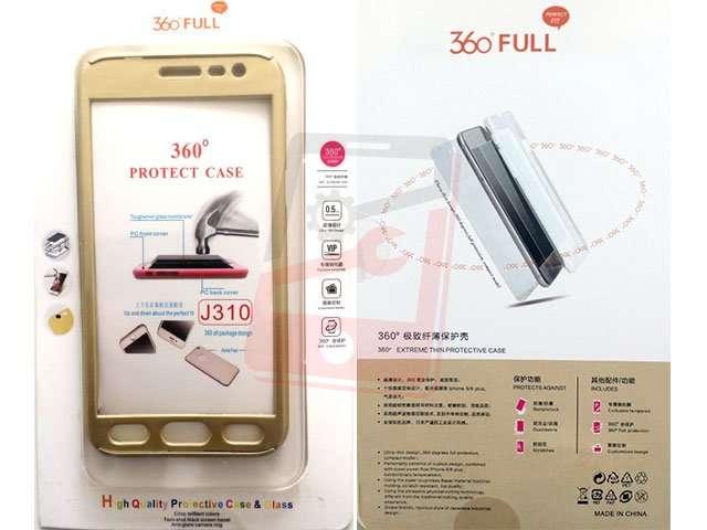 Husa fata spate 360 grade protectie cu folie de sticla display Samsung Galaxy J3 2016, J320