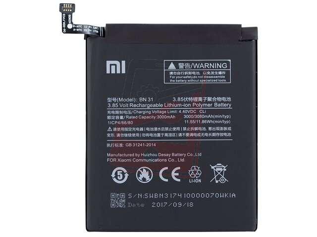 Acumulator Xiaomi BN31 original pentru Xiaomi Mi A1, Redmi Note 5A