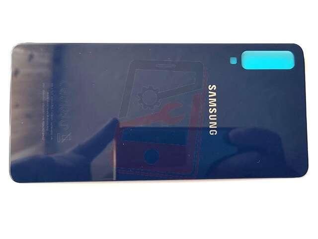 Capac baterie Samsung SM-A750F Galaxy A7 2018 albastru din sticla