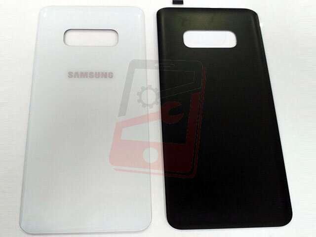 Capac baterie Samsung SM-G970F Galaxy S10E alb DIN STICLA