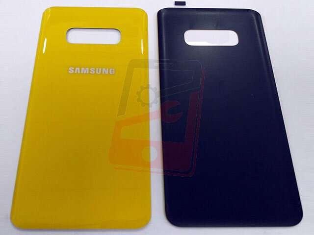 Capac baterie Samsung SM-G970F Galaxy S10E galben DIN STICLA