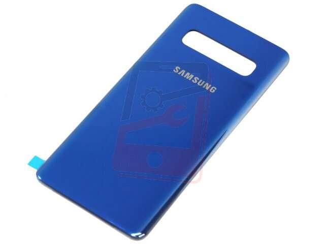 capac baterie samsung sm-g975f galaxy s10+ albastru din sticla