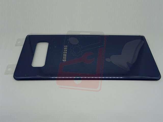 Capac baterie Samsung SM-N950F Galaxy Note 8 albastru DIN STICLA