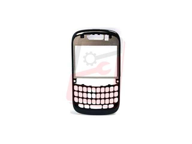 carcasa rama fata blackberry 9320 curve neagra - argintie