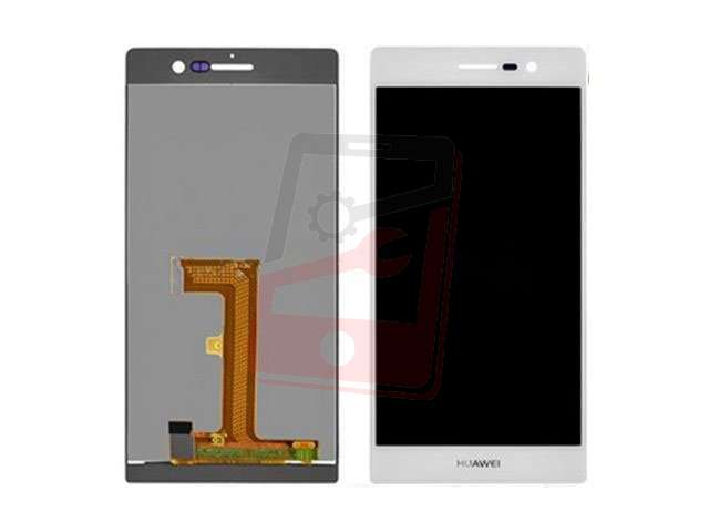 Display cu touchscreen Huawei Ascend P7 alb, roz