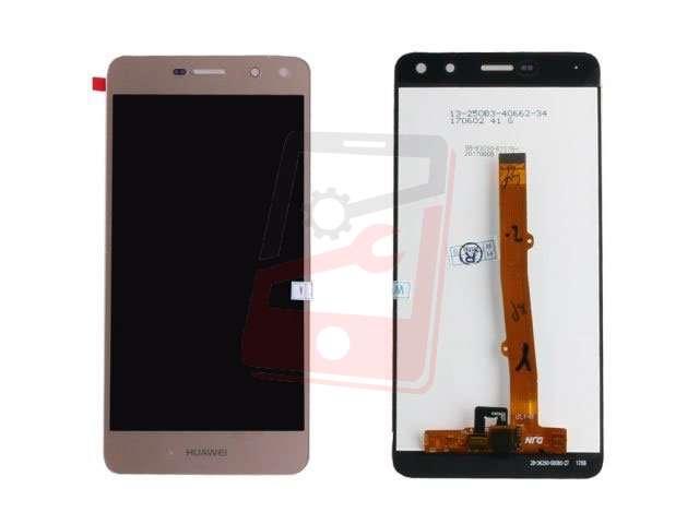 Display cu touchscreen Huawei Y6 2017, MYA-L02, MYA-L03, MYA-L22, MYA-L23 auriu