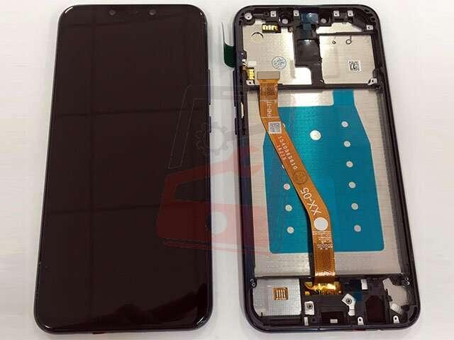 display cu touchscreen si rama huawei mate 20 lite sne-lx1 ds sne-lx3 ds ine-lx2 albastru