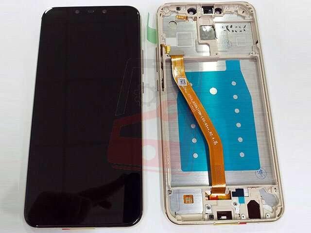 display cu touchscreen si rama huawei mate 20 lite sne-lx1 ds sne-lx3 ds ine-lx2 auriu