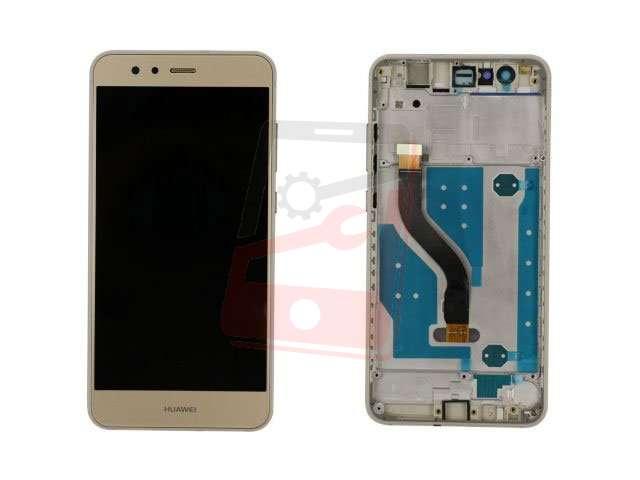 Display cu touchscreen si rama Huawei P10 Lite WAS-LX1, LX1A auriu