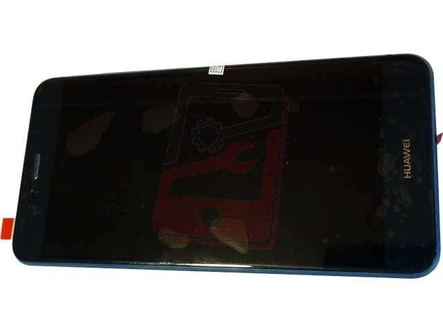 Display cu touchscreen si rama Huawei P10 Lite WAS-LX1, LX1A albastru