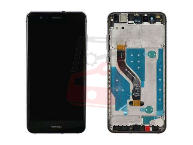 Display cu touchscreen si rama Huawei P10 Lite WAS-LX1, LX1A negru