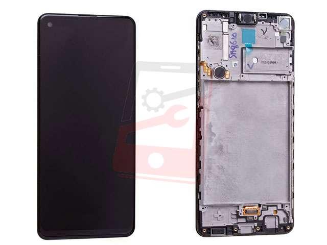 Display cu touchscreen si rama Samsung SM-A217F Galaxy A21s ORIGINAL