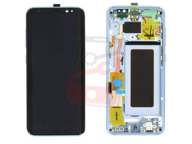 display cu touchscreen si rama samsung sm-g950f galaxy s8 albastru original