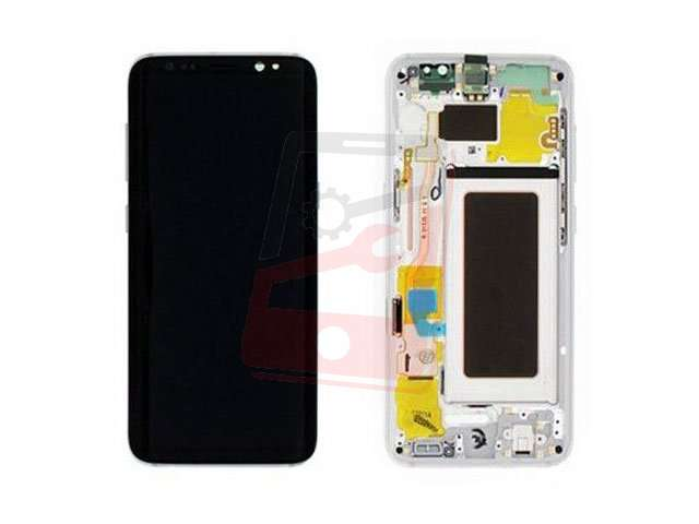 display cu touchscreen si rama samsung sm-g950f galaxy s8 argintiu