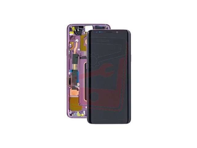 display cu touchscreen si rama samsung sm-g965f galaxy s9+ violet original