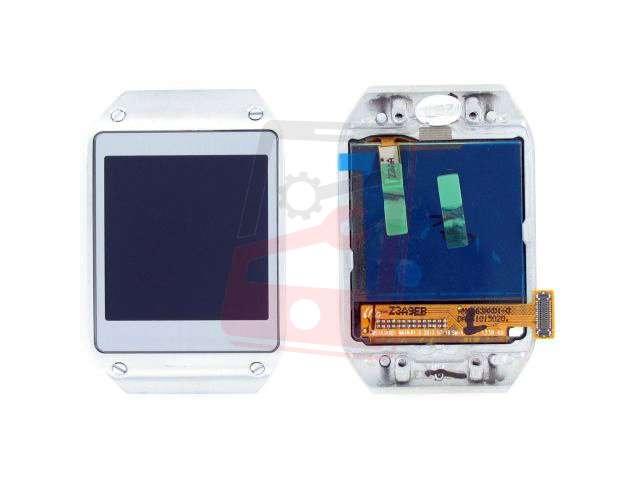 Display cu touchscreen si rama Samsung SM-V700 Galaxy Gear argintiu original