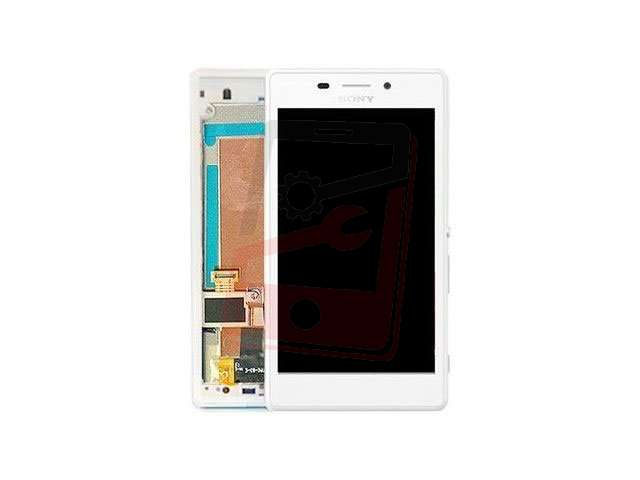 display cu touchscreen si rama sony d2303 d2305 d2306 xperia m2 alb