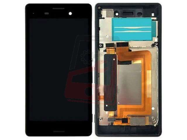 Display cu touchscreen si rama Sony E2303, E2306, E2312, E233, E2353, E2363 Xperia M4 Aqua