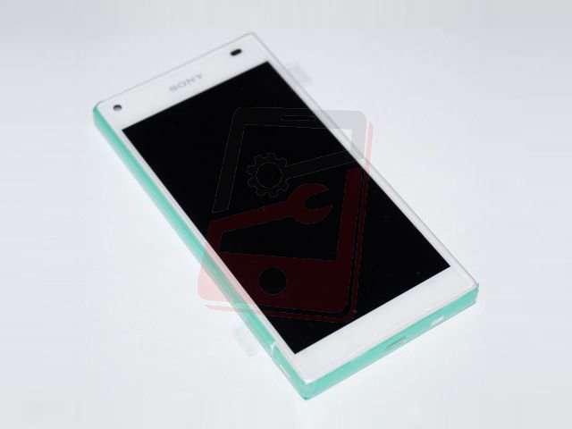 Display cu touchscreen si rama Sony E5803, E5823, Xperia Z5 Compact alb