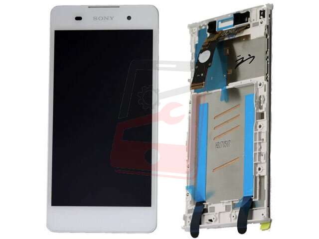 display cu touchscreen si rama sony f3311 f3313 xperia e5 alb
