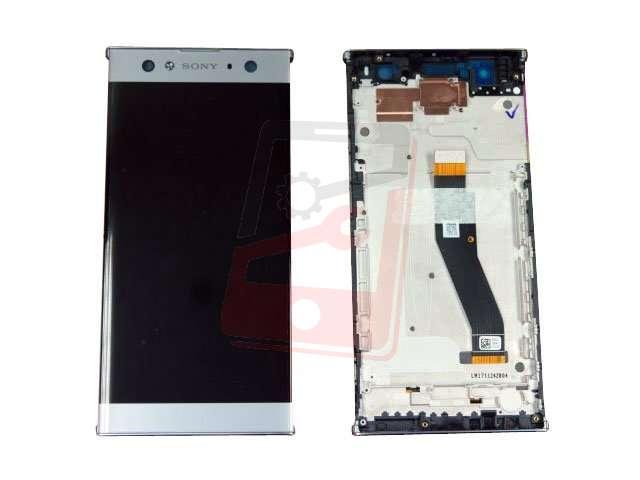 Display cu touchscreen si rama Sony H4213, Xperia XA2 Ultra argintiu