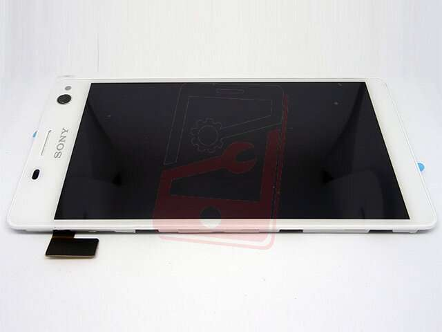 display cu touchscreen si rama sony xperia c4 xperia c4 dual alb