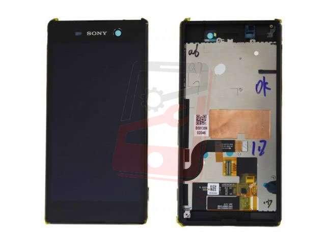 display cu touchscreen si rama sony xperia m5 e5603 e5606 e5653 e5633 e5643 e5663 xperia m5 dual auriu