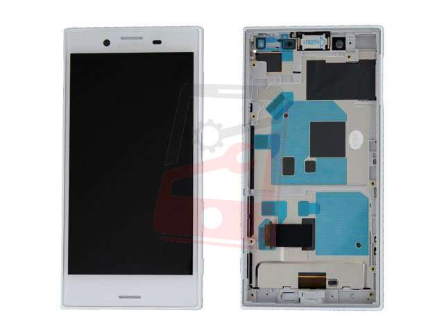 display cu touchscreen si rama sony xperia x compact f5321 alb