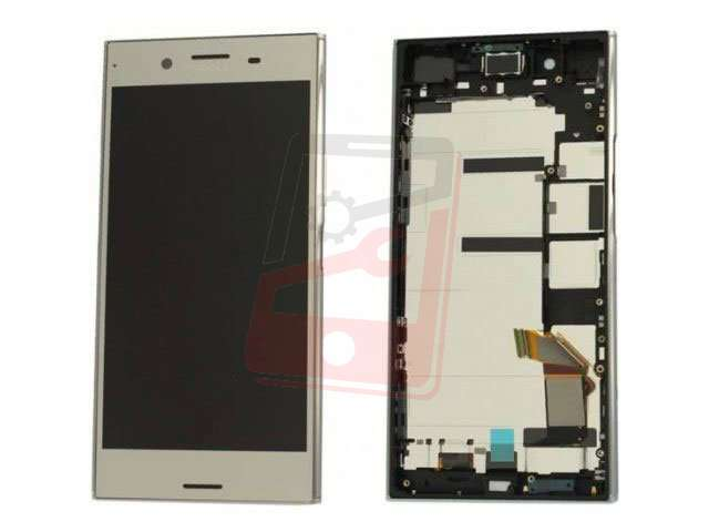 display cu touchscreen si rama sony xperia xz premium g8141 g8142 argintiu