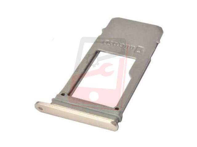 Suport card Samsung SM-A520F, SM-A720F (varianta single sim) auriu