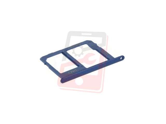 Suport sim si card Samsung SM-A600F Galaxy A6 2018, SM-A605F Galaxy A6 Plus 2018 albastru