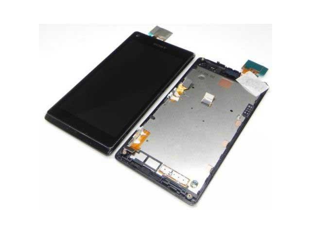 display cu touchscreen si rama sony c2104 c2105 s36h xperia l original