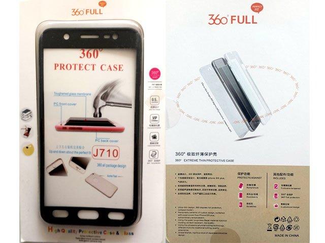 Husa fata spate 360 grade protectie cu folie de sticla display Samsung Galaxy J7 2016