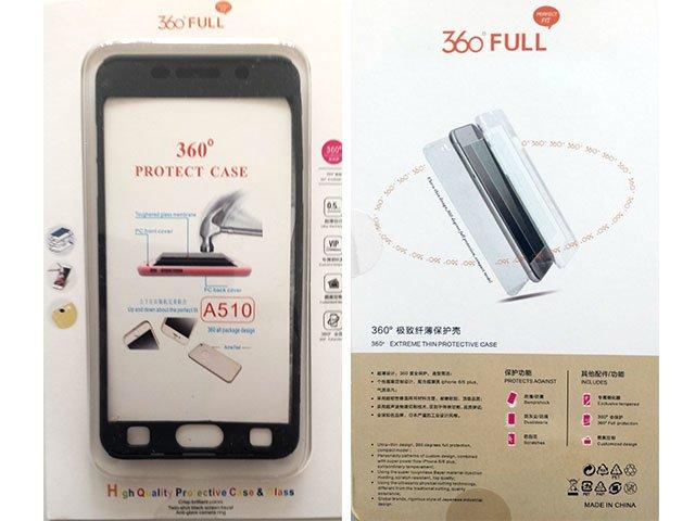 Husa fata spate 360 grade protectie cu folie de sticla display Samsung Galaxy A5 2016