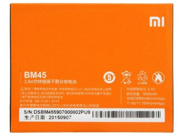 Acumulator Xiaomi BM45 original pentru Xiaomi Redmi Note 2