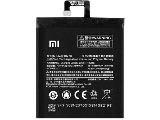 Acumulator Xiaomi BN20 original pentru Xiaomi Mi 5C