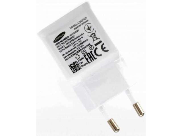 adaptor retea cu incarcare rapida samsung ep-ta20ewe 5v- 2a alb original samsung