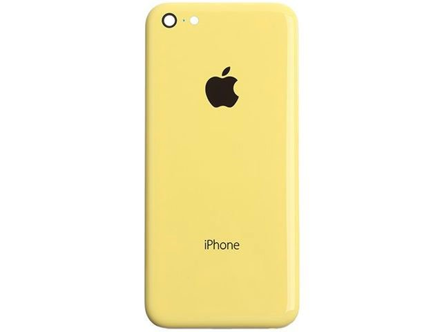 Capac baterie Apple iPhone 5C galben ORIGINAL