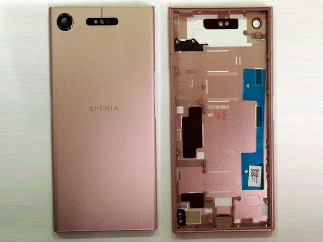 Capac baterie Sony Xperia XZ1, F8341, F8342 roz original