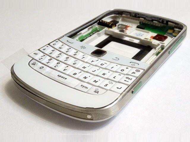 Carcasa BlackBerry 9900 Bold Touch alba ORIGINALA