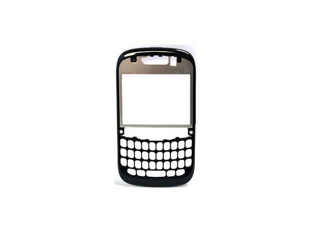 Carcasa rama fata BlackBerry 9320 Curve neagra - argintie originala