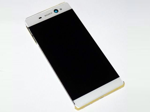 Display cu touchscreen si rama Sony Xperia C6, XA Ultra, F3211, F3213 alb original