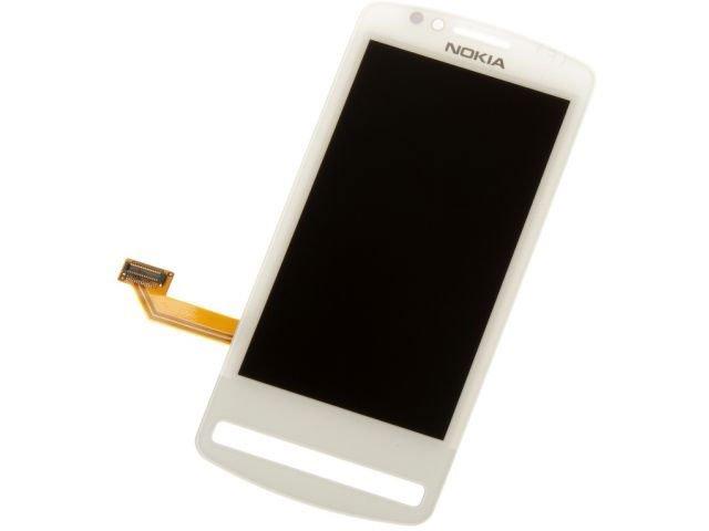 Display cu touchscreen Nokia 700 alb original