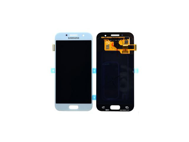 Display cu touchscreen Samsung SM-A320F Galaxy A3 2017 albastru deschis original