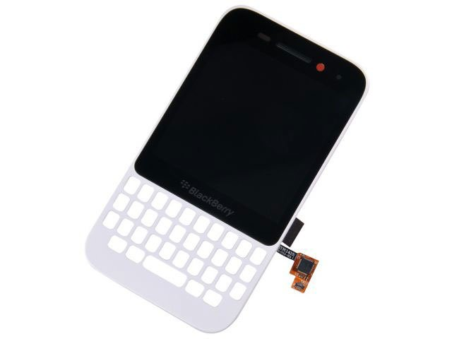 Display cu touchscreen si rama BlackBerry Q5 versiunea 001/111 alb original