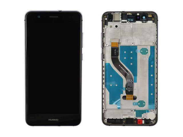Display cu touchscreen si rama Huawei P10 Lite WAS-LX1, LX1A original negru