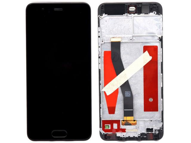 Display cu touchscreen si rama Huawei P10, VTR-L09, VTR-L29 negru original