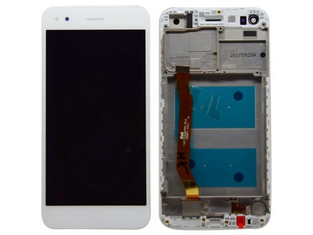 Display cu touchscreen si rama Huawei P9 lite mini, Y6 Pro 2017 alb original