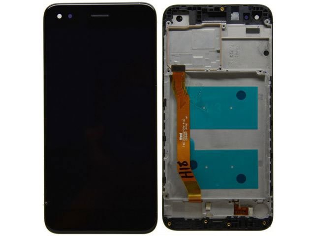 Display cu touchscreen si rama Huawei P9 lite mini, Y6 Pro 2017 negru original