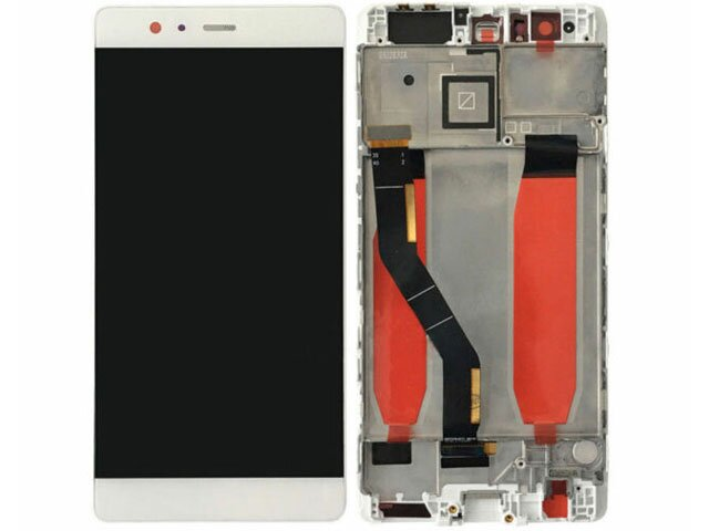 display cu touchscreen si rama huawei vie-l09 vie-l29 p9 plus alb original